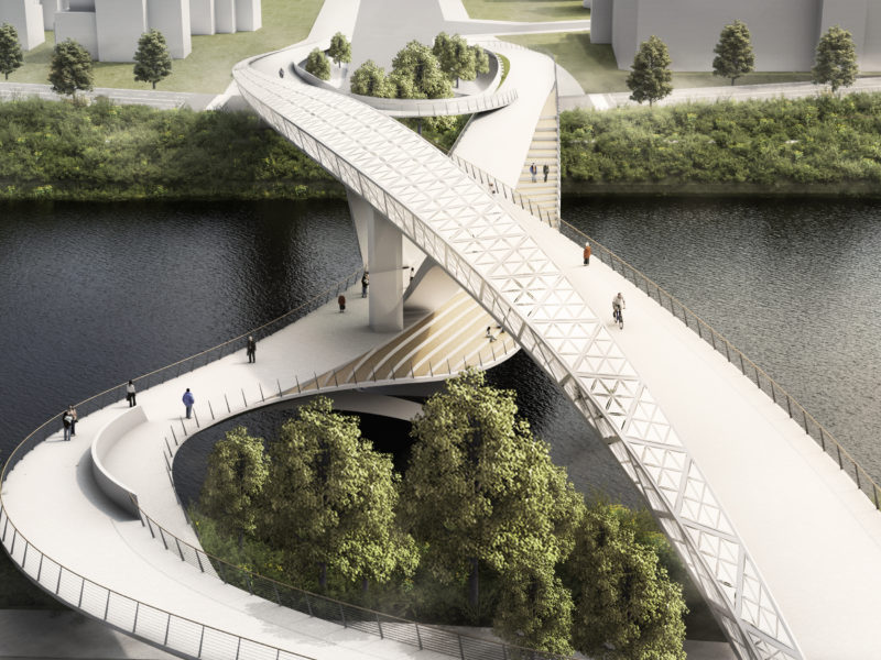 Daylight Arial render 五岔子大橋 - Wuchazi Bridge (INFINITE LOOP)