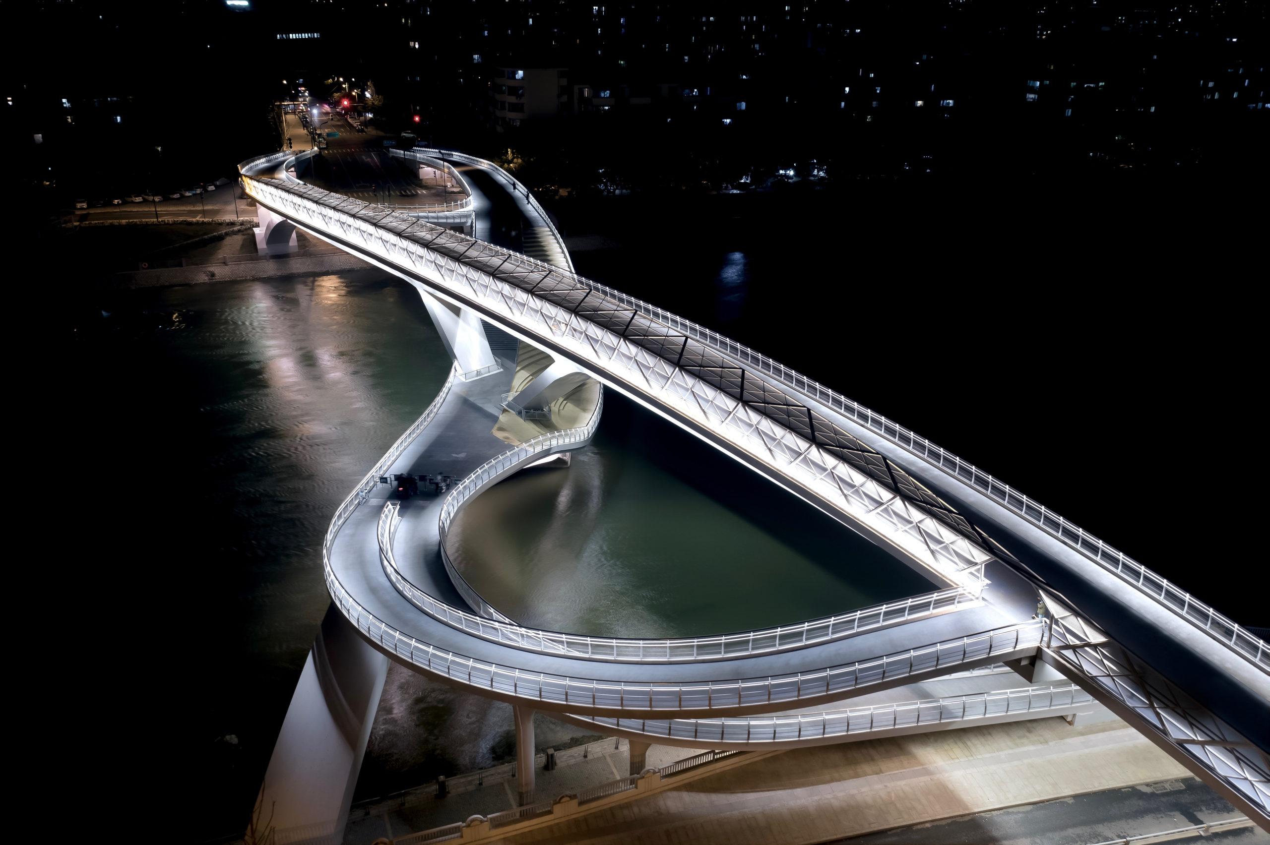 五岔子大橋 Wuchazi Bridge night view