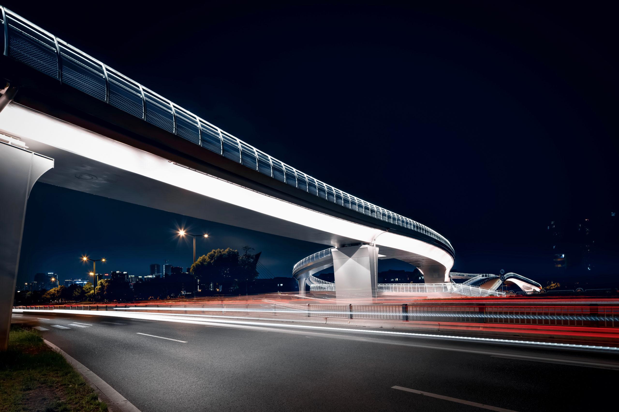 五岔子大橋 Wuchazi Bridge Night View long exposure street view