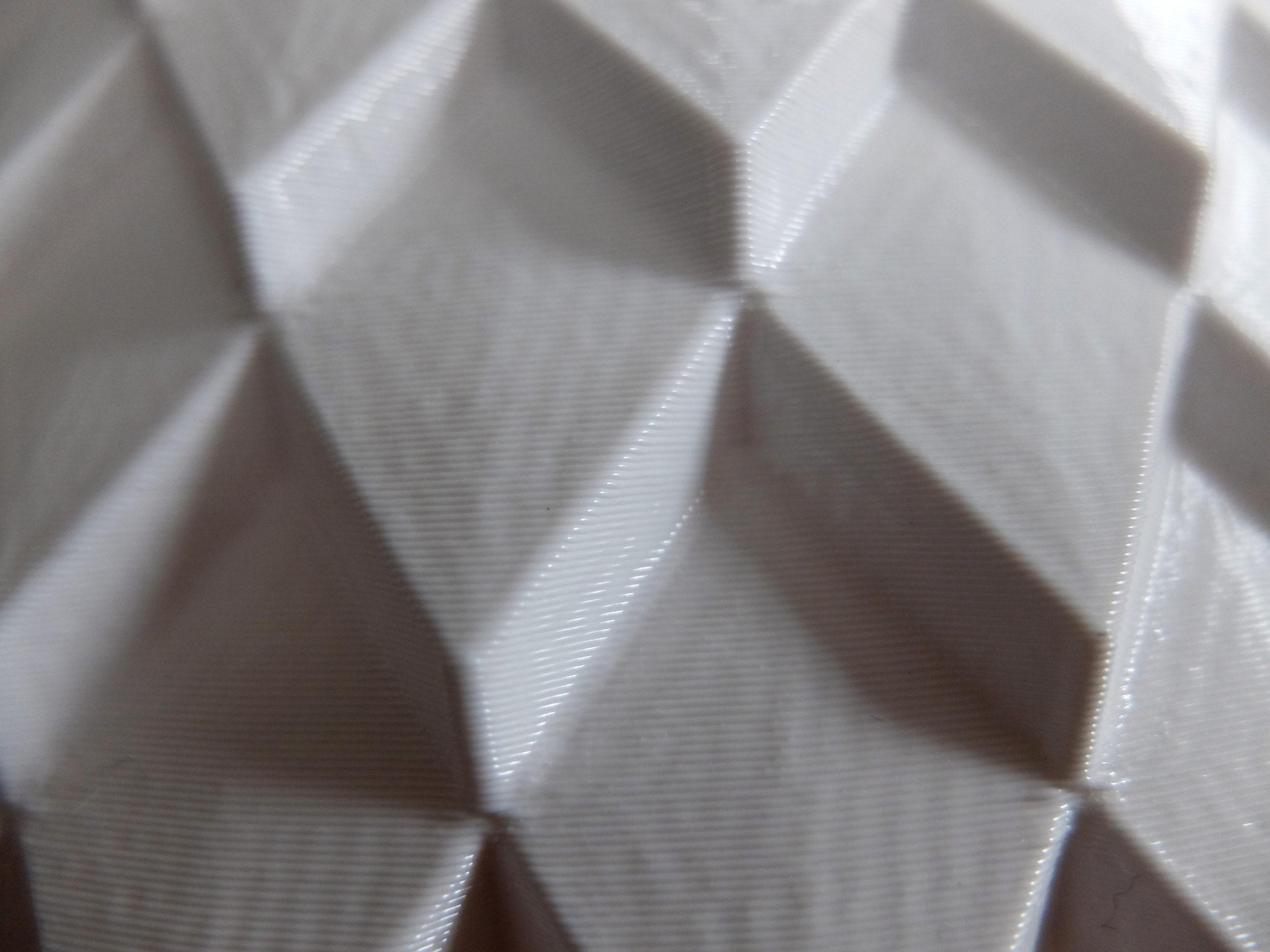 Close-up photo of 3d printed parametric vase design