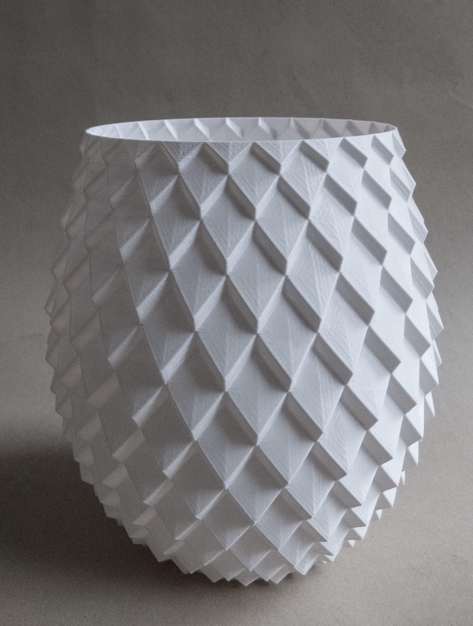 Photo of 3d printed parametric vase design