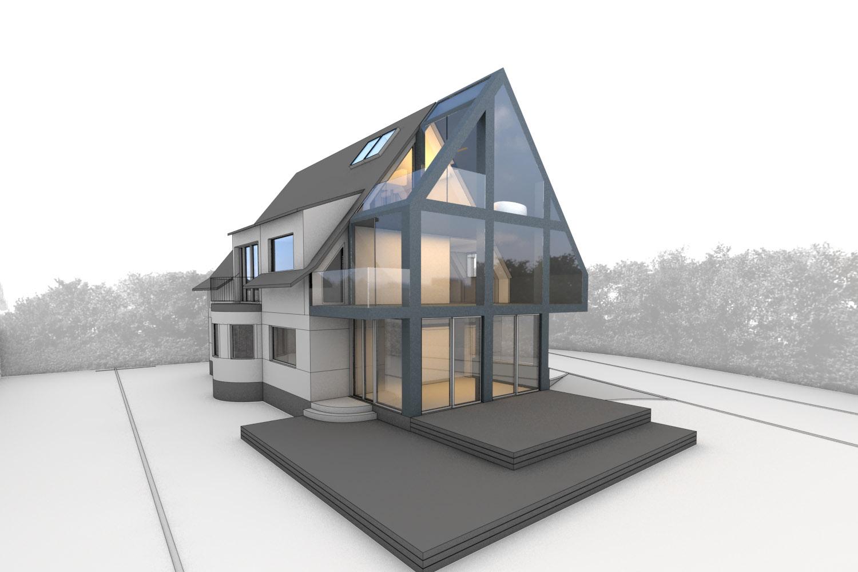 Berlin Architecture villa extension perspective