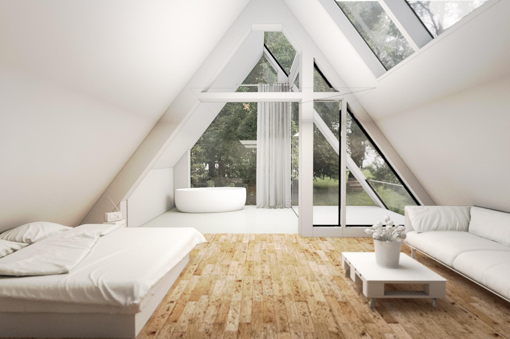 Berlin Architecture villa extension interior perspective